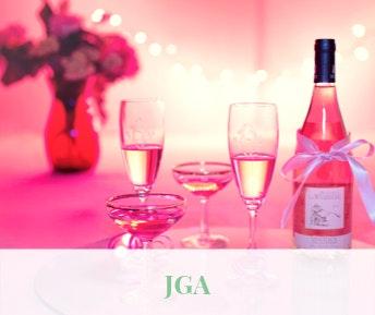 JGA: Sektgläser und Sekt