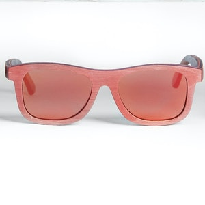 TicTasTogs Recycled skateboard Sunglasses | Rad Red