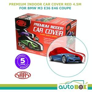 SAAS Medium Indoor Show Car Cover 4.5m Red Soft suits BMW M3 E36 E46 Coupe