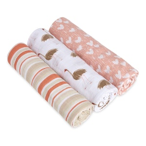 aden+anais white label flock together 3 pack classic swaddles