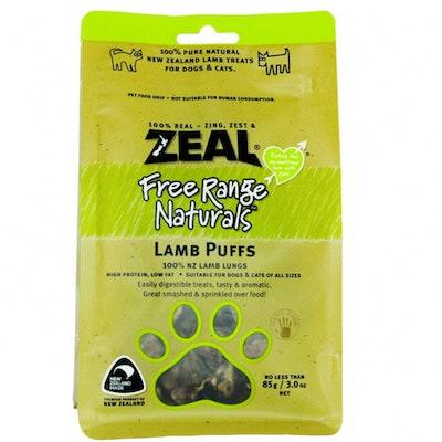 Zeal Free Range Naturals Lamb Puffs Dog Cat Treat 85g