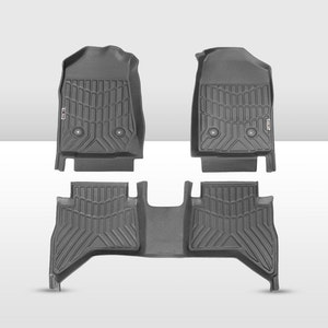 KIWI MASTER 3D TPE Floor Mats Fit Holden Colorado Dual Cab 2012-2020