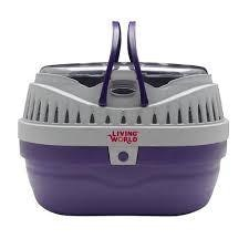 Living World Small Animal Carrier Small Purple/Gry