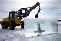 Torne River ice blocks are  used to build Icehotel