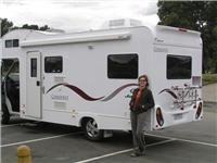Lisa loves camping in a  motorhome