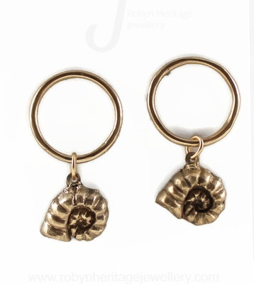 Robyn Heritage Jewellery Betty, Round Fossil Stud Earring 2021