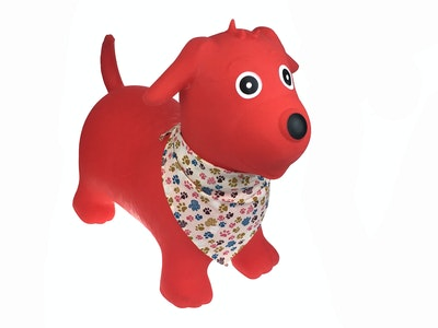 Kaper Kidz BOUNCY RIDER RED DOG W SCARF