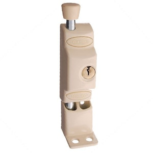 Lockwood 680NPRM Key Operated Patio Door Lock-Primrose