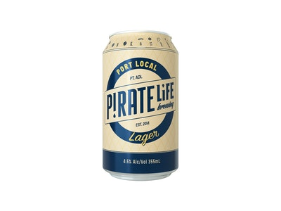 Pirate Life Brewing Port Local Lager Can 355mL