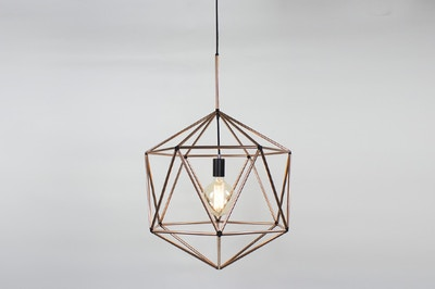 Copper Rough Diamond Pendant Light