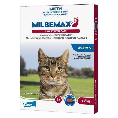 Milbemax Cat Large 2kg To 8kg 2 Tablets