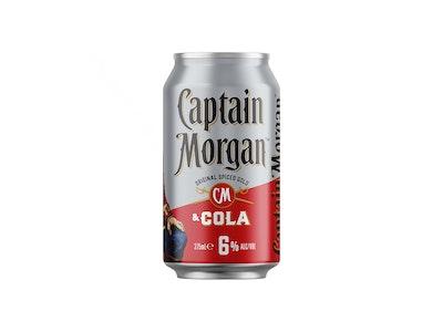 Captain Morgan Original Spiced Gold & Cola 6% Can 375mL