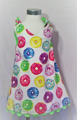 Handgrown Threads Dress - Size 1 - Colourful Donuts