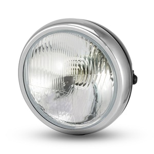 "6.5"" Metal Headlight - Black/Chrome"