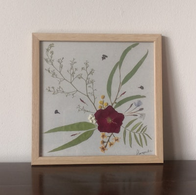 Florapeutic From My Heart - Pressed Flower Art
