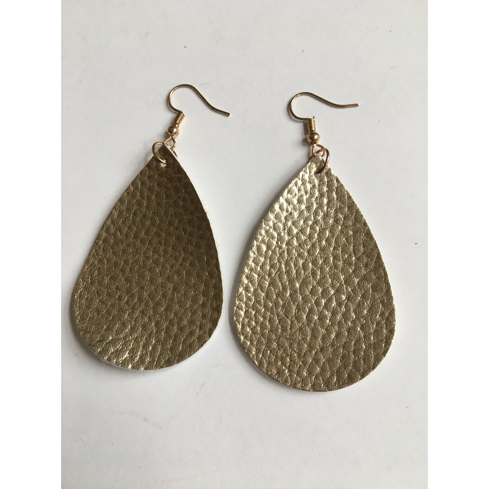 One of a Kind Club Gold Tear Shaped Earrings