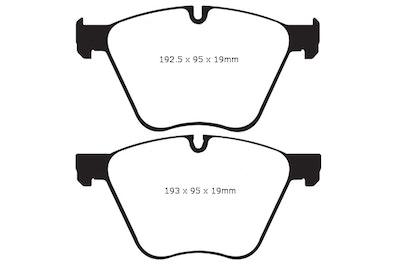 EBC YELLOW STUFF FRONT BRAKE PADS for BMW X6 E71 E72 M50d 280Kw 8/2011-6/2014