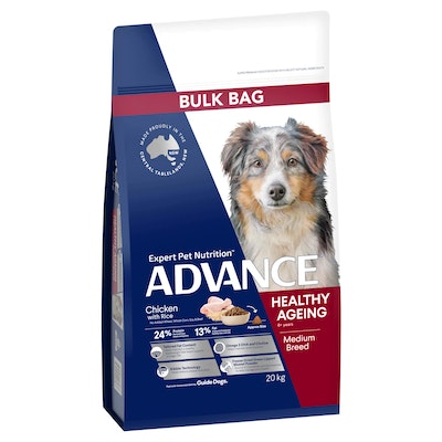 Advance Healthy Ageing Medium Breed Chicken with Rice Dog Food 20kg