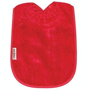 Silly Billyz XL Red Towel Bib