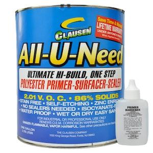 Clausen All-U-Need Polyester Primer 3.8L - White