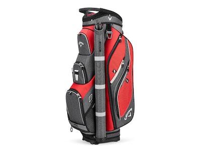 Callaway Forrester Cart Bag Red Titanium Silver