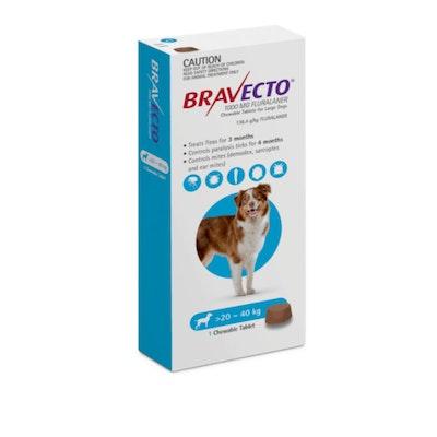 BRAVECTO Blue Chew 20-40Kg Dog 6 Month Pack