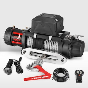 12V 13000LBS Electric Winch Synthetic Rope