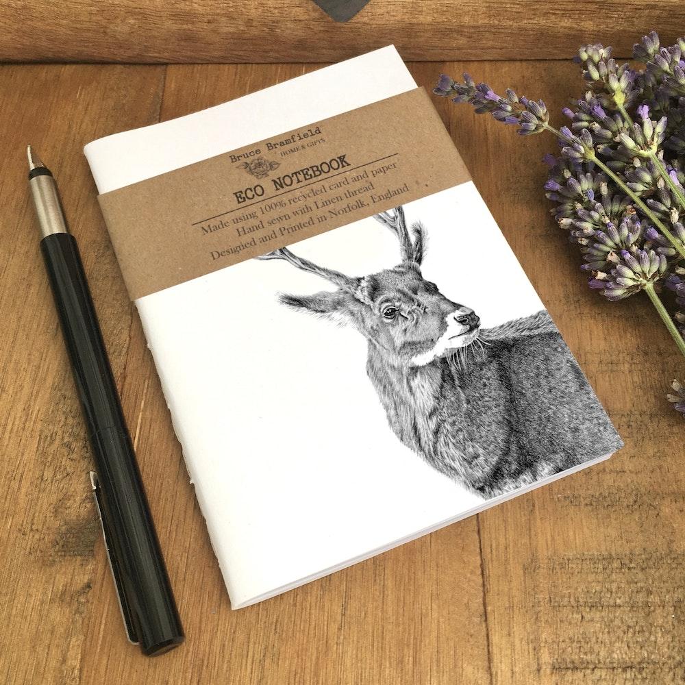 Bruce Bramfield Stag Eco Notebook (white Cover)