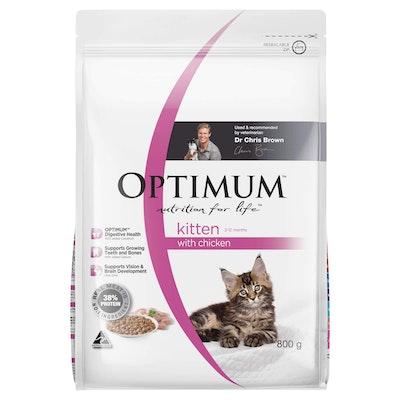 Optimum Kitten Chicken Dry Cat Food 800G