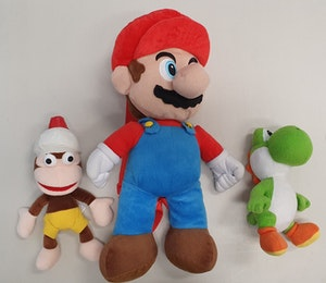Mario, Yoshi & Diddy Kong Plush