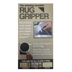 4x RUG GRIPPERS Non Slip Reusable Carpet Mat Gripper Anti Skid Washable Grip New