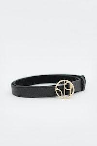 1 People Antwerp Piñatex® Thin Belt in Charcoal Black