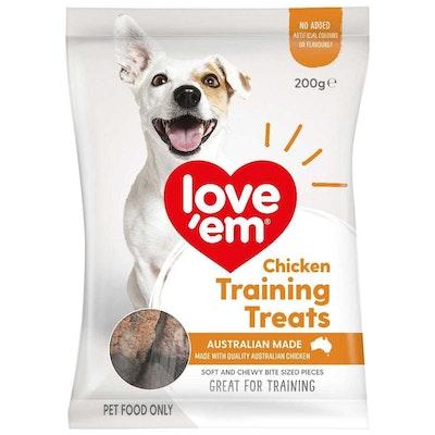 Love'em Love Em Dog Food Chicken Training Mini Treats 200g x 6 Pack