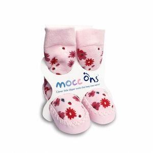 Sock Ons MOCC ONS Pink Floral 12-18