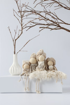 Sculptures of the Earth Macramé dolls (Mum or Dad)