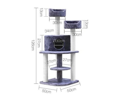 House of Pets Delight 126cm Multi Level Cat Scratching Tree