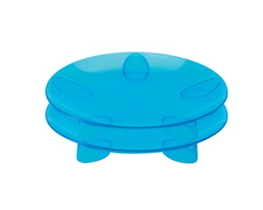 Steadyco Lets Eat Snack Plate 2pk Blue