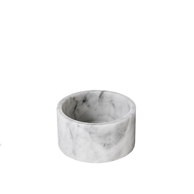 HOUNDZTOOTH Marble Cat Bowls – White Carrara