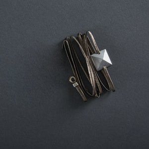 Global Sisters Shop Leather Wrap – Pewter
