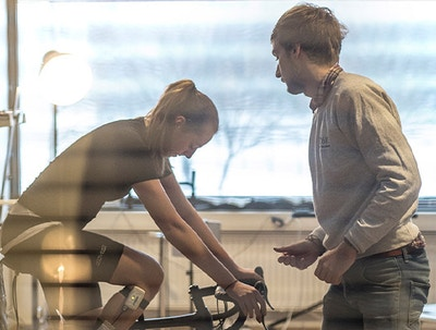 Bike fitting with Lise Visser