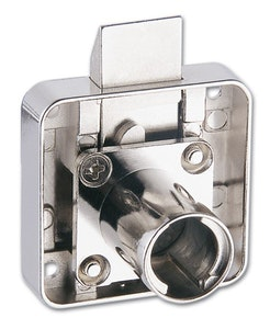 Firstlock CL First Lock 22mm projection, slam latch square back cupboard, draw or furniture lock keyed alike.