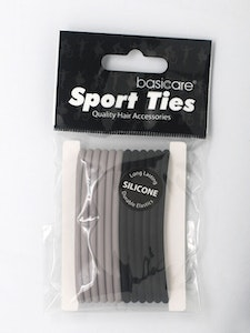Basic Care Round Silicone Hair Ties 12pcs