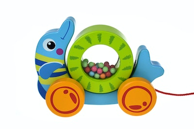 Tooky Toy PULL ALONG - ROLLING DOLPHIN
