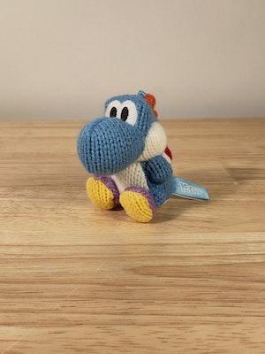Light-Blue Yoshi Amiibo Yoshi's Woolly World