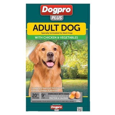 Dogpro Dog Pro Plus Adult Dry Dog Food Chicken & Vegetable 20kg