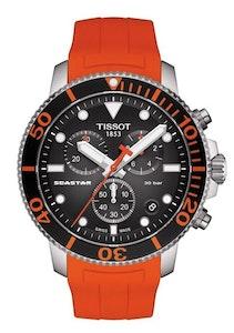 Tissot Seastar 1000 Chronograph - Black with Silicone Strap