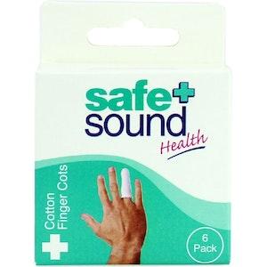 Safe + Sound Cotton Finger Cots 6 Packs
