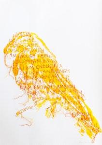 Tracy Stirzaker I AM ENOUGH in orange & yellow - Original Artwork