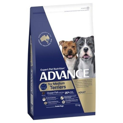 Advance Dry Dog Food Adult Small Breed Terrier Ocean Fish with Rice 13kg