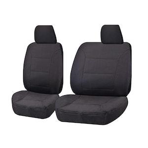 Challenger Car Seat Covers For Nissan Navara Gq-Gu Y61 Series Single Cab 1999-2016 | Charcoal